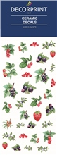 Decorprint Ceramic Decals - Watercolour Berries