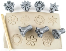 Relyef Pottery Tools Set of Flowers 30mm No.1