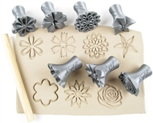 Relyef Pottery Tools Set of Flowers 30mm No.2