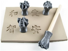 Relyef Pottery Tools Kanji: Harmony, Love, Wisdom & Tranquility Stamps