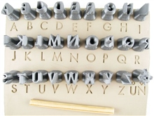 Relyef Pottery Tools Set of Futura Alphabet Upper Case 10mm