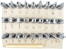 Relyef Pottery Tools Set of Futura Alphabet Lower Case 10mm