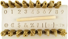 Relyef Pottery Tools Set of Futura Numerals 10mm
