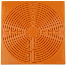 Relyef Pottery Tools Tile Stamp of Labyrinth