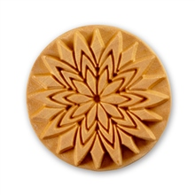 MKM Tools 6cm Round Stamp #001 - Fancy Lotus