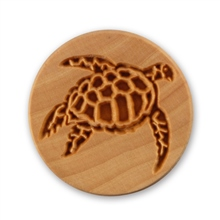 MKM Tools 6cm Round Stamp #006 - Sea Turtle 2