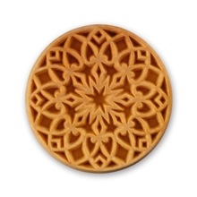 MKM Tools 6cm Round Stamp #009 - Rose Window 2
