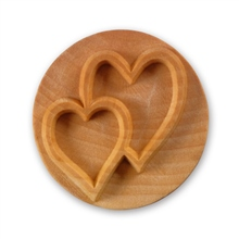 MKM Tools 6cm Round Stamp #011 - Double Heart
