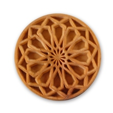 MKM Tools 6cm Round Stamp #020 - Rose Window 1
