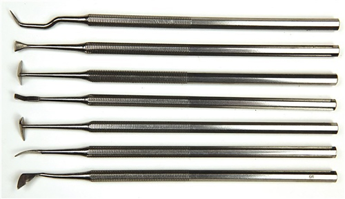 Scarva Tools 7 Piece Steel Decorating Tool Set  - Click to view larger image