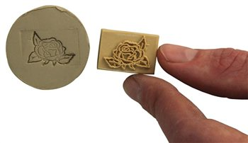 Relief Stamps Rose in Bloom  - Click to view larger image