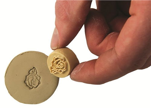Relief Stamps Open Rose  - Click to view larger image
