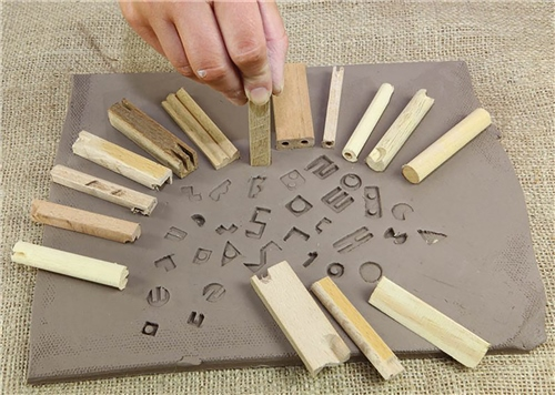 Scarva Tools Wooden Impress Stamps - 15 Set  - Click to view larger image