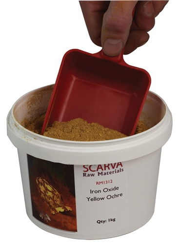 Scarva Raw Materials Iron Oxide Yellow Ochre RM1312  - Click to view larger image