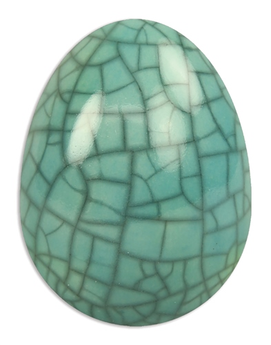 Scarva Nano Colours NK07 Turquoise Earthenware Crackle Glaze  - Click to view larger image