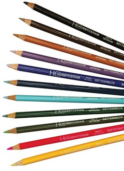 Scarva Bulk Pack 11 Underglaze Pencils  - Click to view larger image