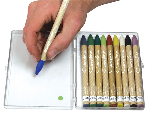 Ceraline Box of 10 - Wax Crayon  - Click to view larger image