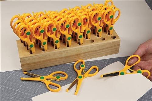 Scarva Hardwood Scissors Block with 32 scissors  - Click to view larger image