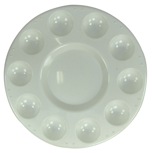 Scarva 10 Section Well Round Mixing Palette  - Click to view larger image
