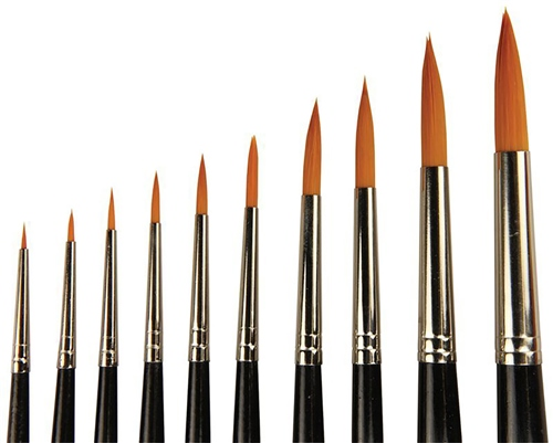 Scarva 10 Piece Watercolour Round Brushes Set  - Click to view larger image