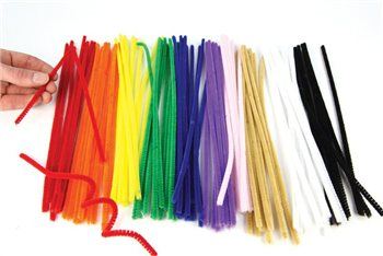 Scarva Chenille Pipe Cleaners - 100 Pack  - Click to view larger image