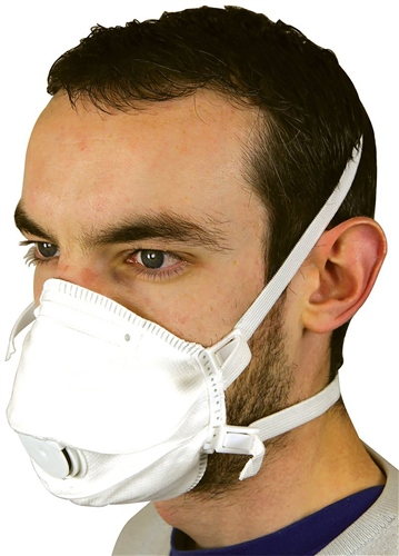 Scarva Valved Dust/ Mist / Fume Mask - box of 5  - Click to view larger image