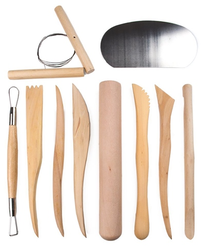 Scarva Tools Pottery Professional 10 Piece Sculptors Tool Kit  - Click to view larger image
