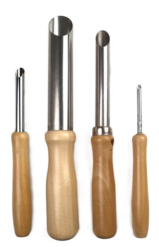 Scarva Tools 4 Piece Round Hole Cutter Set  - Click to view larger image