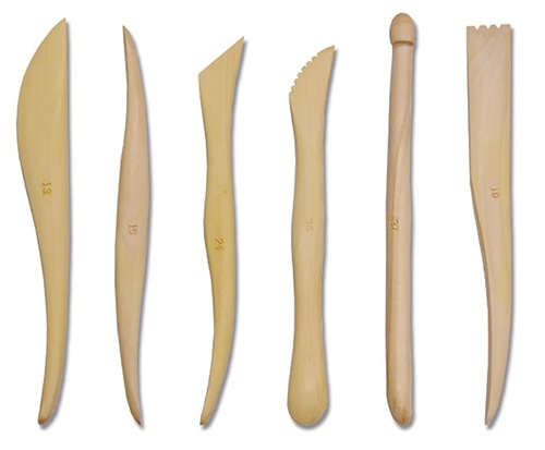 Scarva Tools 6 Wooden Sculpting Tool Set of 6  - Click to view larger image