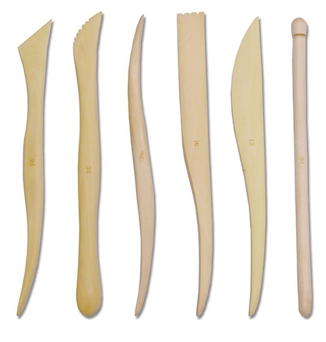 Scarva Tools 8 Wooden Sculpting Tool Set of 6  - Click to view larger image