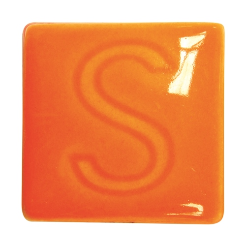 Spectrum 744 Bright Orange Glaze  - Click to view larger image