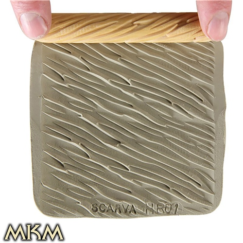 MKM Tools 10cm Hand Roller 01 - Diagonal ridges  - Click to view larger image