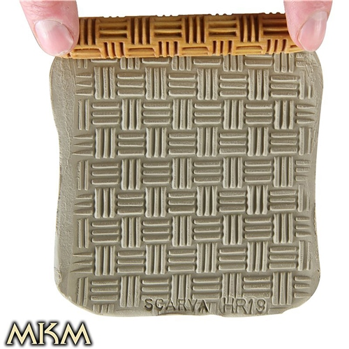 MKM Tools 10cm Hand Roller 19 - Basket Weave 1  - Click to view larger image