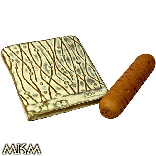MKM Tools Big Hand Roller 06 - Lines & Dots  - Click to view larger image
