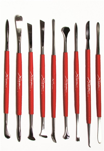 Xiem Tools XM052 Professional Series Set of 9 Carving Sculpting Tools  - Click to view larger image