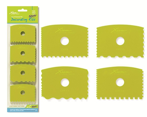 Xiem Tools XM053 Ultimate Soft Decorating Ribs Set C  - Click to view larger image