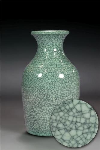Scarva Nano Colours NAK007 Celadon Crackle  - Click to view larger image