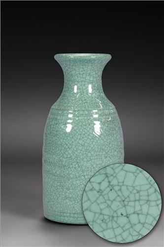 Scarva Nano Colours NAK008 Pale Turquoise Stoneware Crackle Glaze  - Click to view larger image