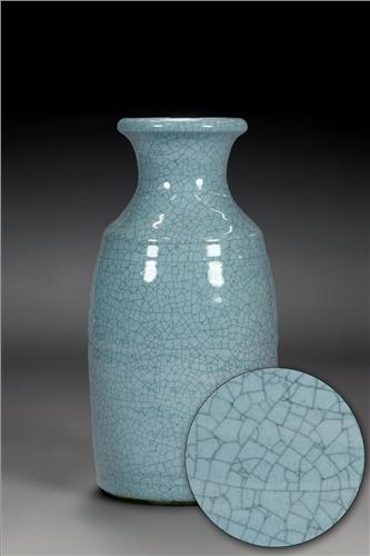 Scarva Nano Colours NAK010 Cornflower Blue Stoneware Crackle Glaze  - Click to view larger image