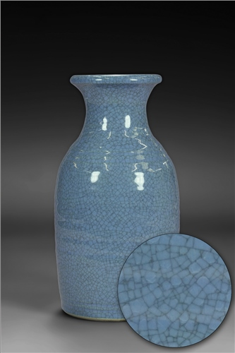 Scarva Nano Colours NAK011 Denim Blue Stoneware Crackle Glaze  - Click to view larger image