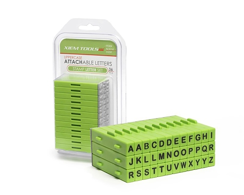 Xiem Tools XM126 Uppercase Attachable Letters Stamp Letter Set 36pcs  - Click to view larger image
