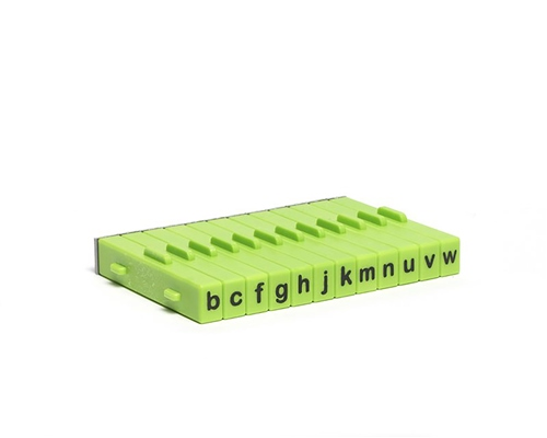 Xiem Tools XM128 Extra Attachable Letter Stamp Set 12pc - Lower Case  - Click to view larger image