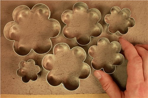 Scarva Tools Metal Shape Cutter Set | Flowers - 6pcs  - Click to view larger image