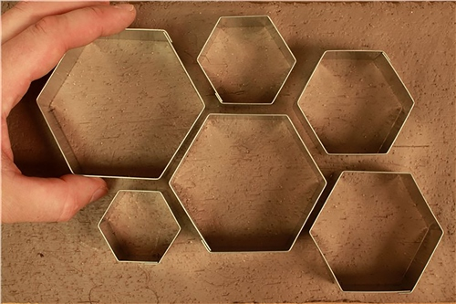 Scarva Tools Metal Shape Cutter Set | Hexagons - 6pcs  - Click to view larger image