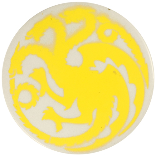 Dragon Stains Sun Yellow Leadfree Glaze Stain B100  - Click to view larger image