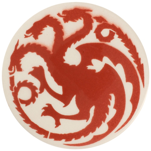 Dragon Stains Coral Leadfree Glaze Stain B188  - Click to view larger image
