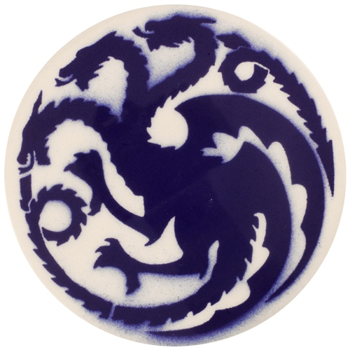 Dragon Stains Cornflower Leadfree Glaze Stain B117  - Click to view larger image