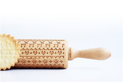 Scarva Tools Rolling Pin VBR029 - Christmas Jumper  - Click to view larger image