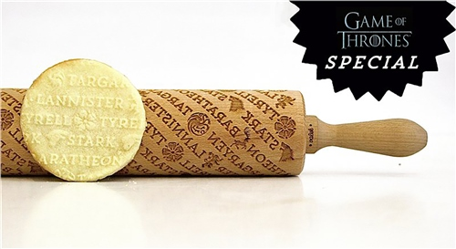 Scarva Tools Rolling Pin VBR082 - Game of Thrones  - Click to view larger image