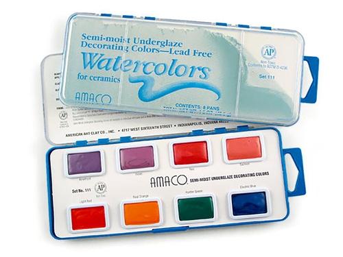 AMACO Underglaze Decorating Colors Watercolors set 110